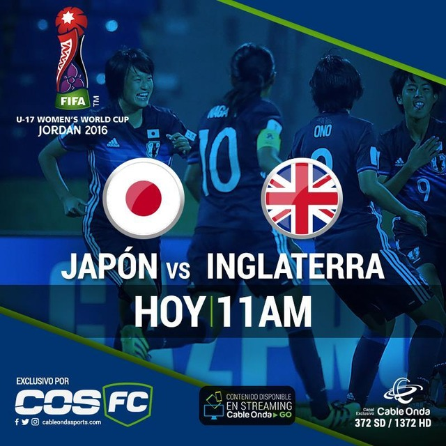 ◆U17女子W杯◆準々決勝 日本×イングランドの結果 植木2G、遠藤1G 3-0で日本完勝、準決勝へ