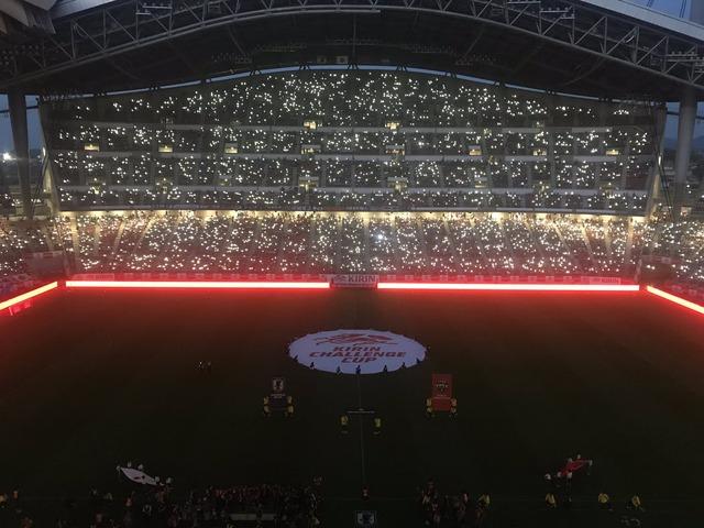 ◆画像◆代表戦LED照明に映し出される豊スタがむちゃくちゃ美しい件