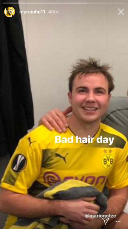◆悲報◆ドルトムントのゲッツェさん、ロイスに頭髪を弄られ晒される「Bad Hair Day」