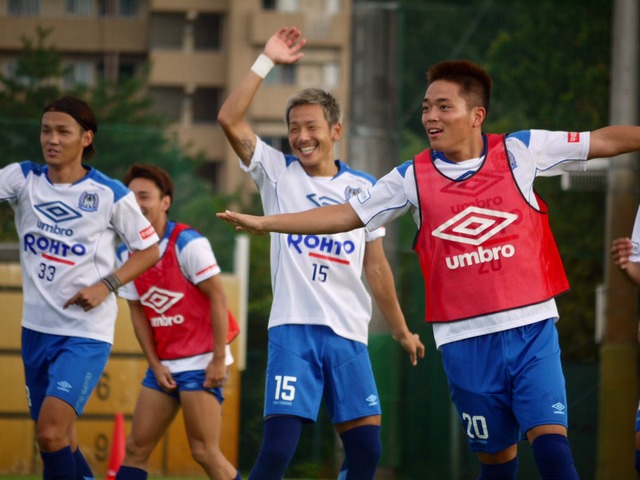 ◆朗報◆ガンバ大阪井手口陽介さん、タカシの横で無茶苦茶嬉しそうに練習
