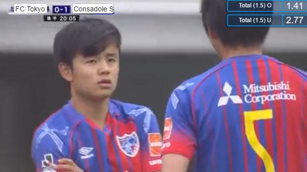 ◆J速報◆ルヴァン杯 FC東京×札幌 15才久保健英 後半ついに登場!