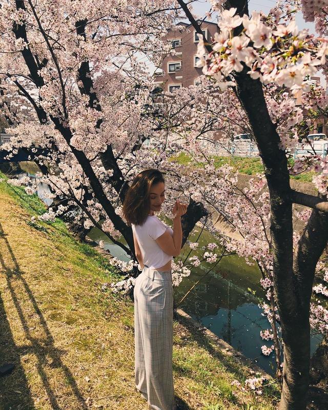 ◆画像◆名古屋GKランゲラックのナイスバディの美人妻のリアノンさん、超薄着でお花見