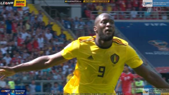 ◆W杯速報◆G組2節 ベルギー×チュニジア ルカクのゴールでベルギー2点めも直後にチュニジアも返して1点差に!
