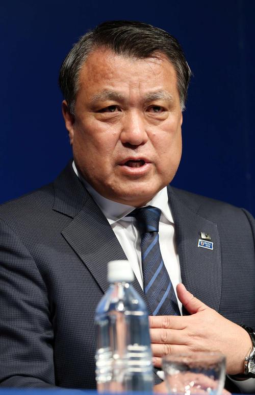 ◆日本代表◆JFA田嶋会長「次、前に進みたい」ハリル氏再来日に言及「会見は聞こうと思わない」