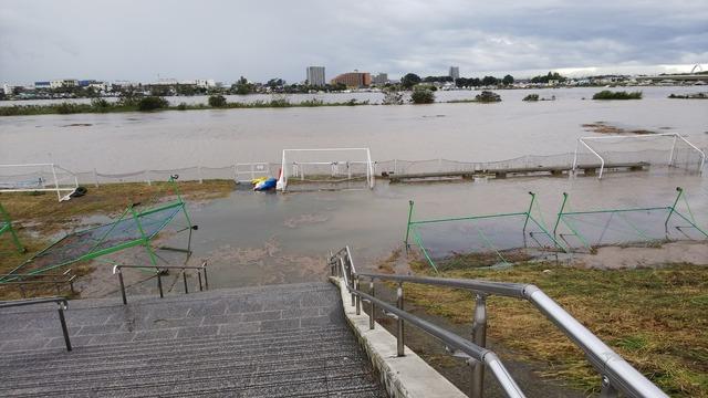 ◆悲報◆神奈川県のJクラブの練習場が水没