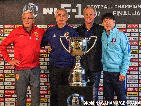 ◆画像◆EAFF E-1 でリッピ、ハリル、北朝鮮と韓国の監督が並んだ結果www