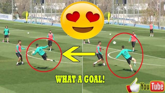 ◆Gif小ネタ◆クリロナがレアルの練習で見せたジャンピングボレーが強烈過ぎると話題に!