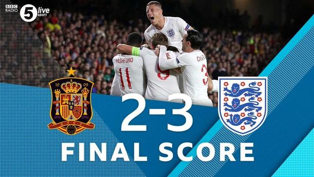 ◆UEFA-NL◆A-4組 4節 スペイン×イングランド イングランド前半効率よく3得点!後半スペイン猛攻も1点及ばず敗戦