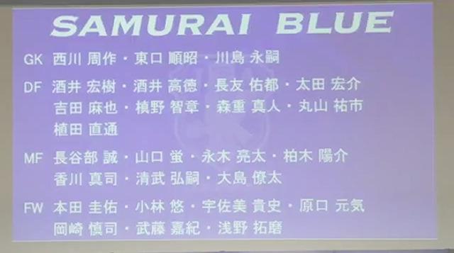 ◆日本代表◆10月アジア最終予選メンバー発表!川島復帰、永木初招集、大島生存、大迫選外
