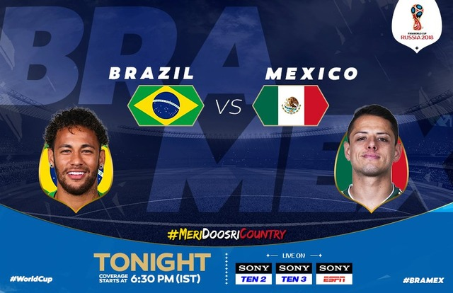 ◆ロシアW杯◆R16 ブラジル×メキシコ ブラジル、ネイマール&フィルミノ弾で快勝!R8進出