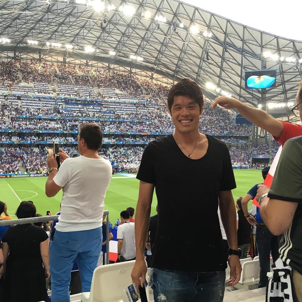 ◆画像◆酒井(ゴ)EURO準決勝ドイツ×フランスをスタジアムで現地観戦でにっかり