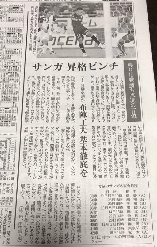 ◆J2◆京都新聞「サンガ昇格ピンチ」の今更感よ