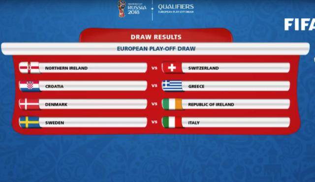 ◆W杯予選◆欧州PO組合せ決定!注目のイタリアはスウェーデンと!クロアチアは難敵ギリシャと対戦
