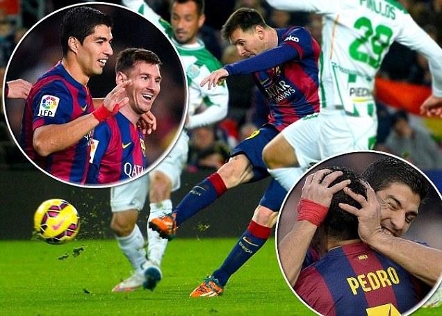 ◆リーガ◆FCバルセロナ ルイス・スアレス リーガ初ゴール!コルドバに5-0で完勝