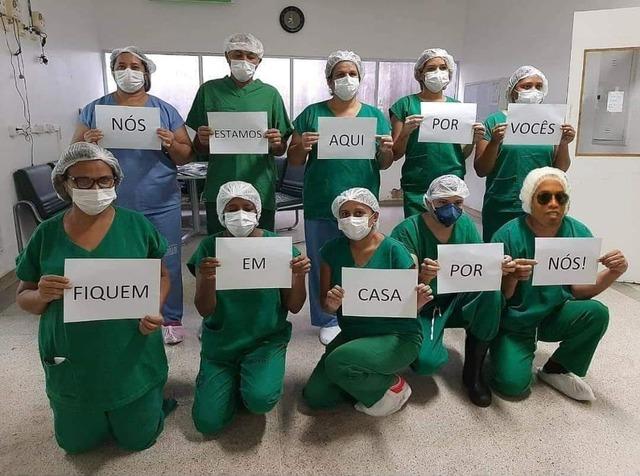 ◆画像◆新型コロナと戦うブラジルの看護団にロナウジーニョがいると話題に!