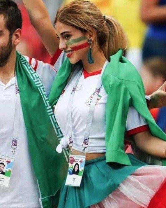 ◆画像◆イラン女性サポーターもヒジャブを脱いだらこんな美女