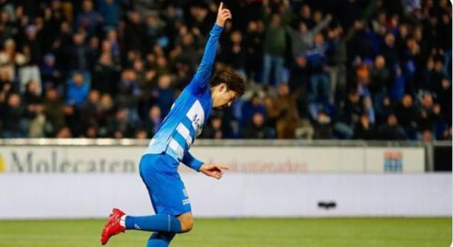 ◆オランダ◆ズヴォレDF中山雄太、オランダ初ゴール、逆足の右で流し込む
