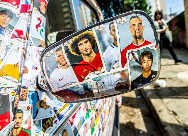◆画像◆清武や酒井宏も!ブラジル人がW杯に向けてパニーニの選手カードでデコレートしたVWビートルが凄いと話題に!