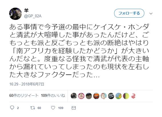 ◆悲報◆サッカークラスター系ツイッタラー本田と清武の大喧嘩があったと断言(´・ω・`)