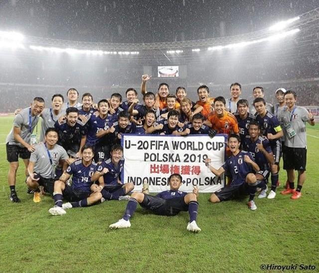◆画像◆U20W杯出場決定記念撮影の久保建英くんさんが誘っていると話題に!