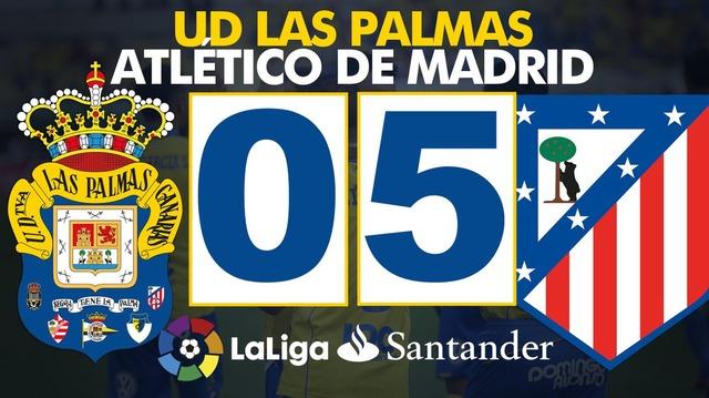 ◆リーガ◆35節 ラス・パルマス×A.マドリーの結果 アトレチコ終始圧倒夢スコで3位堅持