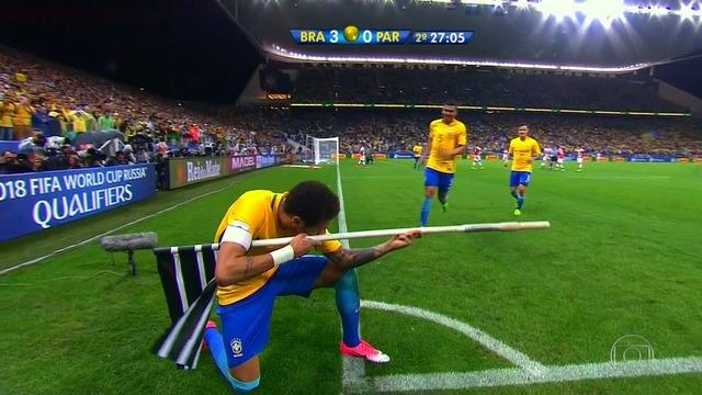 ◆W杯予選◆パラグアイ戦ネイマールの70mドリブルからのゴール凄すぎワロタwww