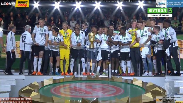 ◆DFB杯◆長谷部所属フランクフルト優勝!表彰式実況