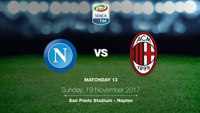 ◆セリエA◆13節 ナポリ×ミラン ミラン一矢報いるもナポリに切り裂かれ敗戦、CL圏まで勝ち点11