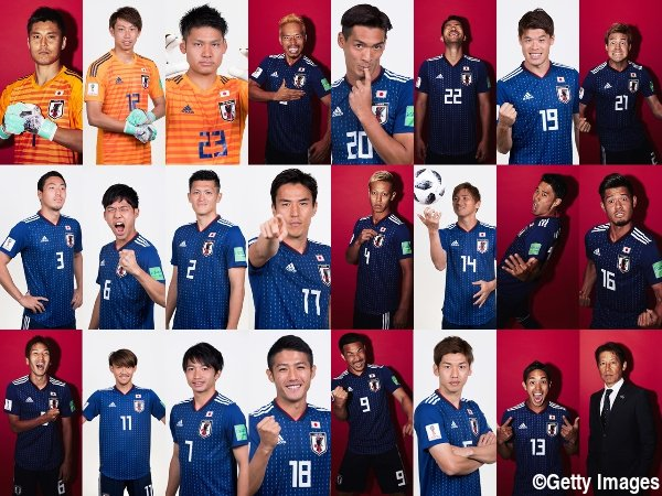 ◆画像◆W杯公式ポートレイトの日本代表の面々がやたらヒャッハーしてると話題に!