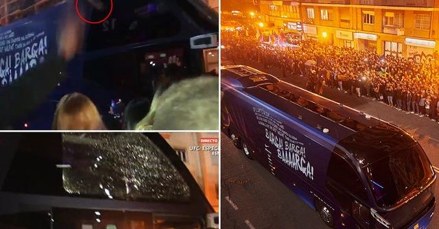 ◆悲報◆バルサのチームバス、国王杯で敗れたバレンシアサポに投石され窓ガラス破壊