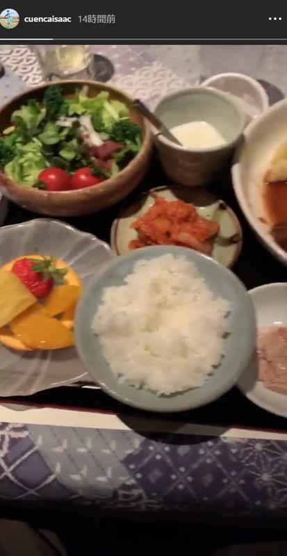 ◆J小ネタ◆鳥栖MFクエンカの夕食が納豆付き和定食で草