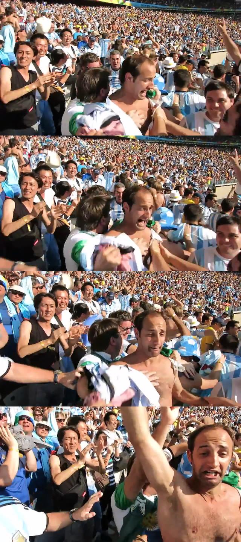 ◆動画小ネタ◆メッシのゴールを喜ぶアルゼンチンサポに紛れてやべっちが写っていると話題に!