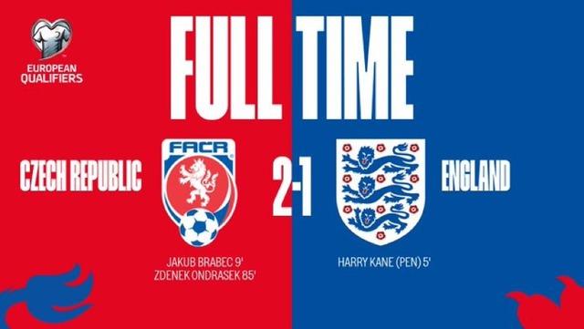 ◆EURO予選◆A組7節 イングランド敵地でチェコに逆転負け!PKで先制も終始劣勢