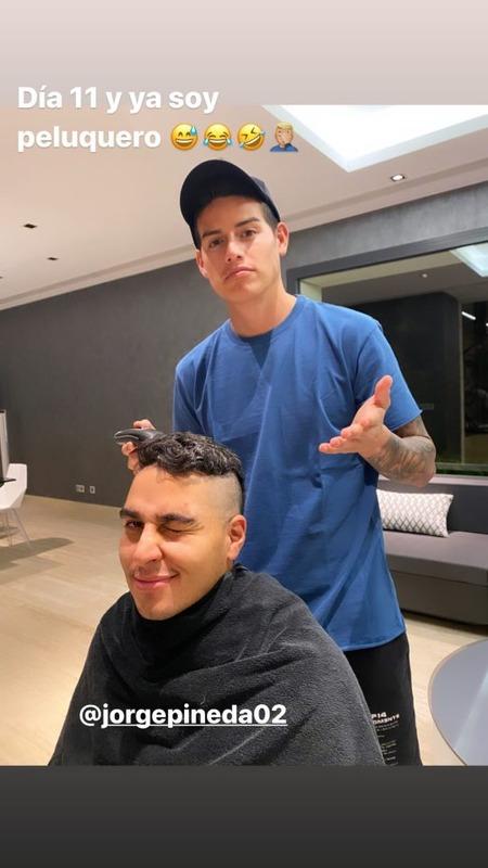 ◆画像◆ハメス・ロドリゲスが奇抜な髪型に散髪をした結果www