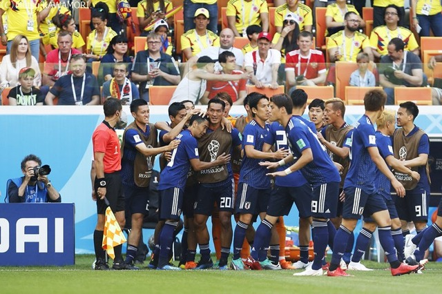 ◆画像◆コロンビア戦先制直後、日本代表ベンチ前の画像がじわじわ来ると話題に!