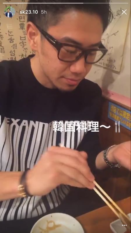 ◆画像◆香川真司さん韓国料理を食す
