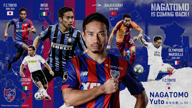 ◆J補強◆FC東京、無所属新 長友佑都の獲得を発表!