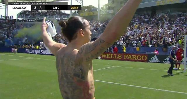 ◆MLS◆イブラヒモビッチ、MLSデビュー戦で35m同点弾、ヘッドで決勝弾とさっそく爆発!