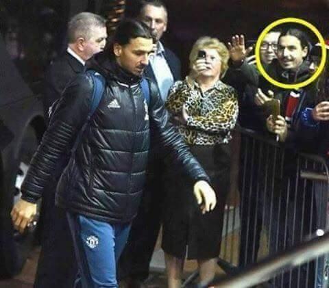◆画像◆ズラタン・イブラヒモビッチにファンが駆け寄ったと思ったらファンもイブラヒモビッチだった(´・ω・`)