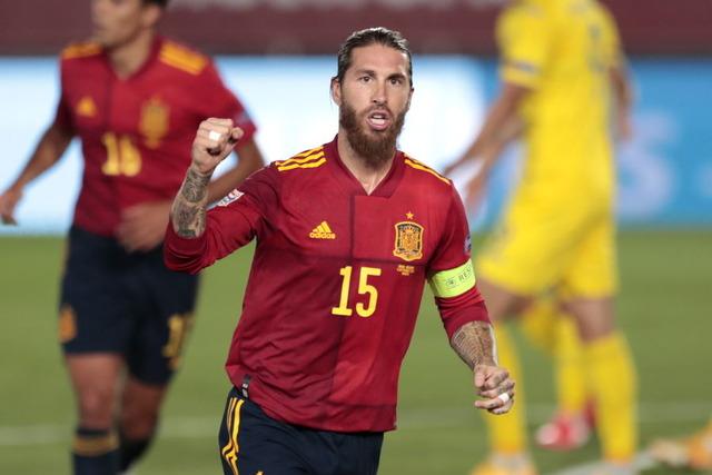 ◆UNL◆スペイン主将ラモス、ウクライナ戦の2発でDF代表戦史上最多ゴール達成…アンス・ファティはスペイン代表最年少ゴール