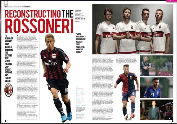 ◆ミラン本田◆海外サッカー雑誌Soccer360Magagineに本田圭佑の特集