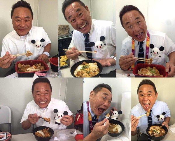 ◆画像◆U23日本代表 勝因は松木安太郎? 全試合の前にかつ丼を食う!