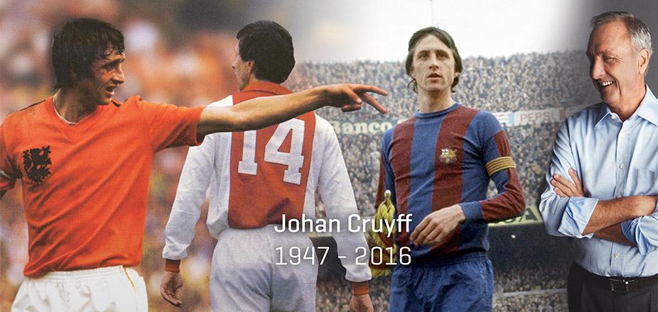 ◆訃報◆巨星ヨハン・クライフ死去、享年68歳 バロンドール3回獲得、バルサのドリームチームを指揮