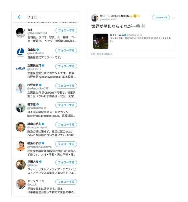 ◆悲報◆京都新監督切れたジャックナイフ中田一三のフォローアカウント一覧がヤバ過ぎると話題に!