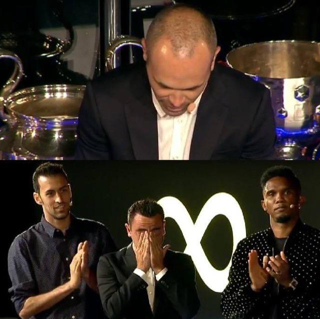 ◆リーガ◆イニエスタ退団イベント、イニエスタのスピーチにシャビさんの目にも涙