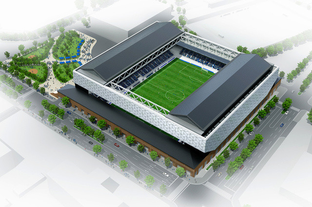 ◆Jリーグ◆ブラウブリッツ秋田の全天候型新スタジアム 秋田大学が建設候補地として名乗り