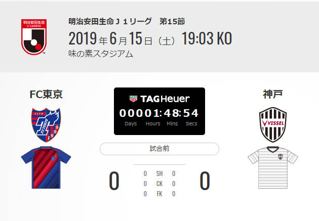 ◆J1◆15節 FC東京×神戸 東京チャンスに決めきれず、イニエスタの1点を守りきった神戸が首位撃破!