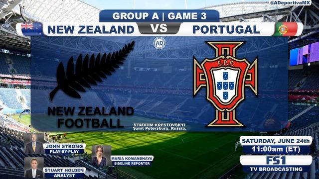 ◆コンフェデ杯◆A組3節 NZL×ポルトガルの結果 ポルトガル4発快勝!A組首位で準決勝へ
