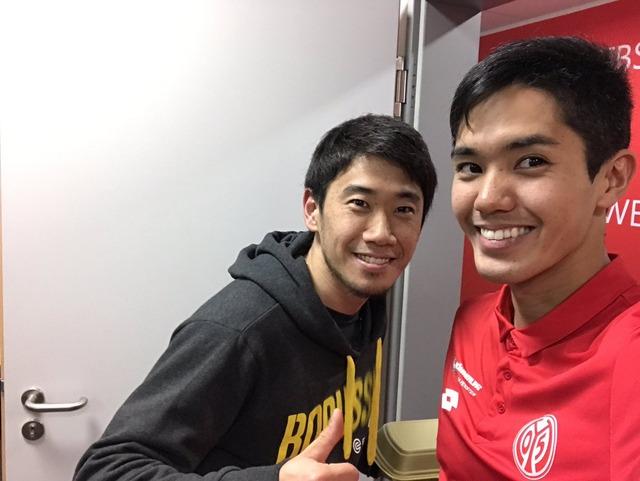 ◆画像◆マインツ×ドルトムントの試合後、香川真司と武藤嘉紀がツーショットをパシャリ!