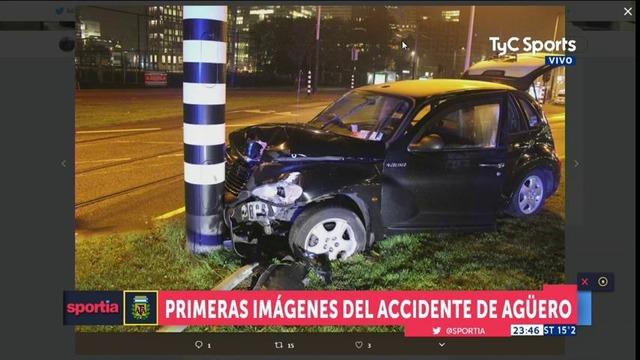 ◆画像◆アグエロ乗せて事故ったタクシーの事故り方が酷いと話題に!